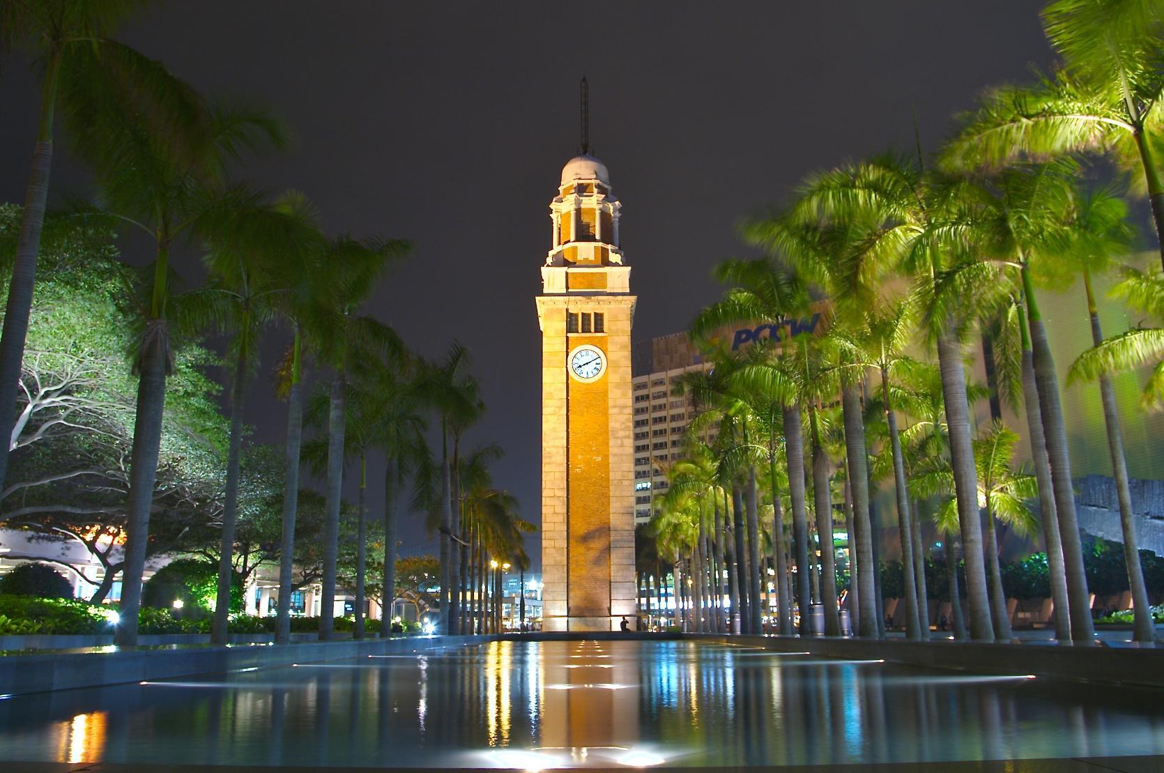 Часовая башня в Гонконге